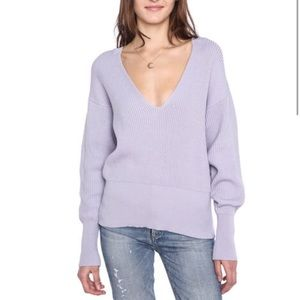 """Free People Lavender """"Allure"""" pullover sweater NWT"""
